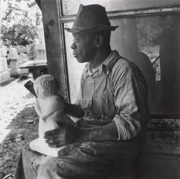 Sculptor WIlliam Edmondson, c. 1936