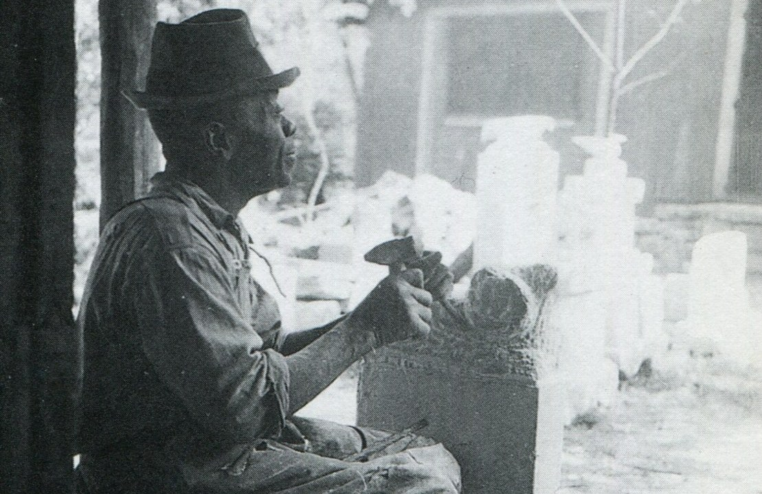 William Edmondson at work