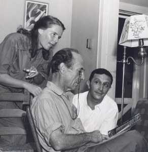 L to R: Charis Wilson Weston, Edward Weston, Alfred Starr at Starr's home, September, 1941 (courtesy Kathy Starr Kaiser)